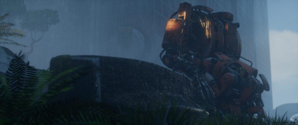 雾中不知在等待什么的机器人